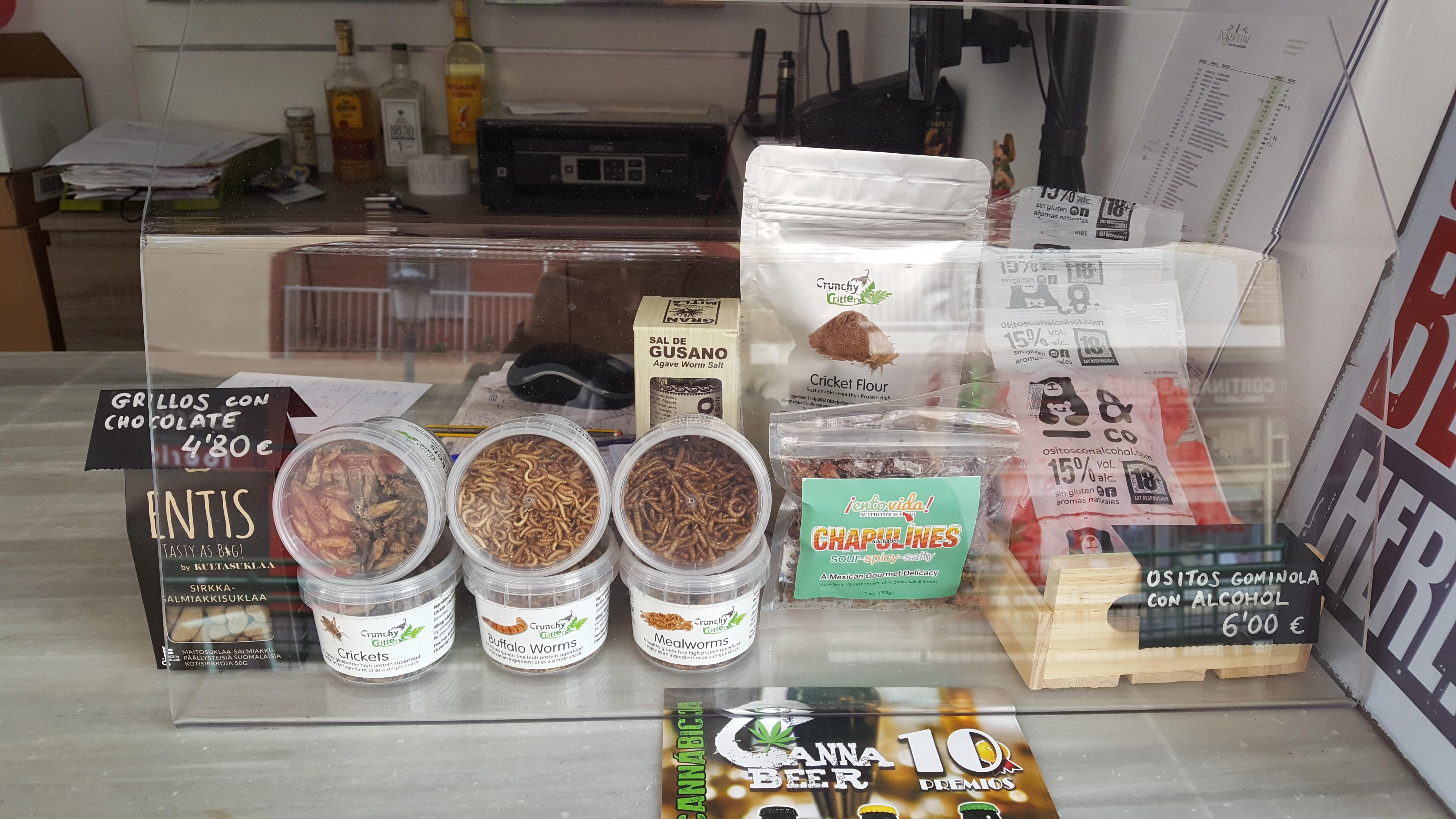 tienda de insectos comestibles en Valencia